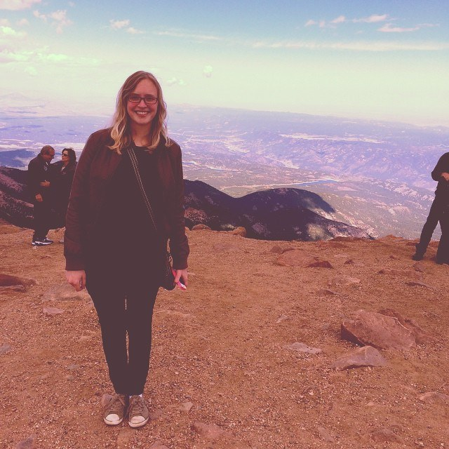 On top of Pikes Peak.